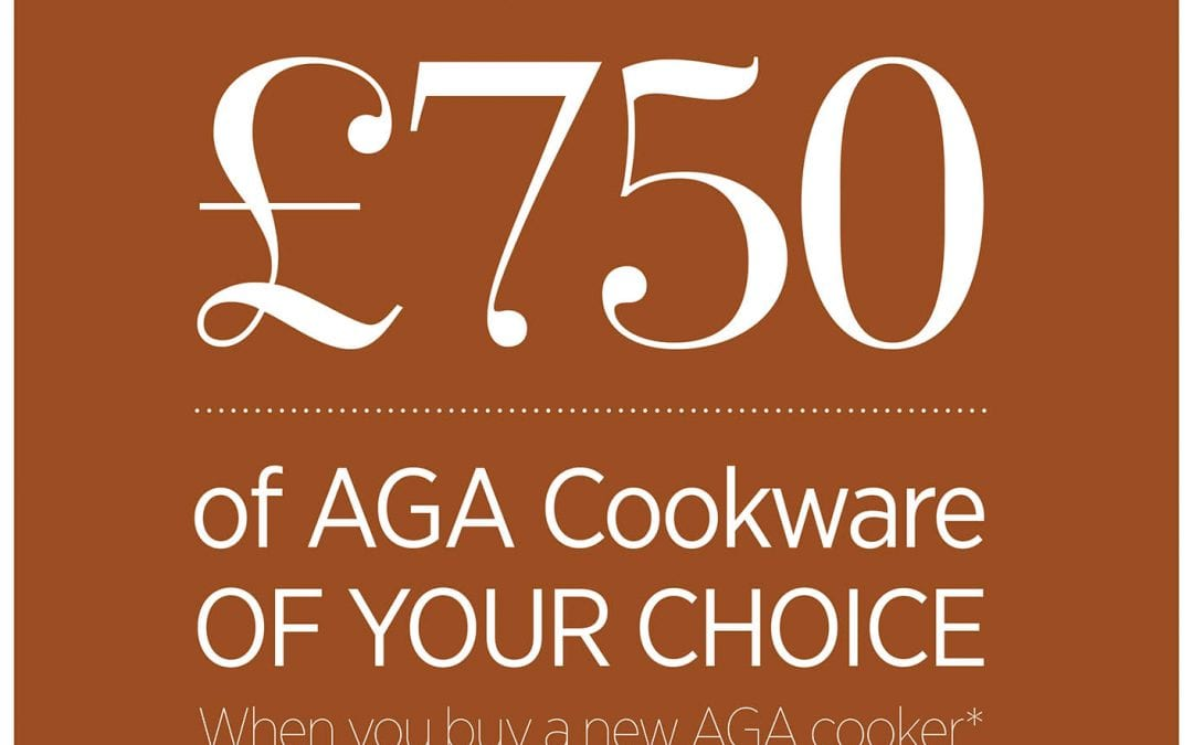 Buy an AGA Cooker and receive £750 of AGA cookware of your choice